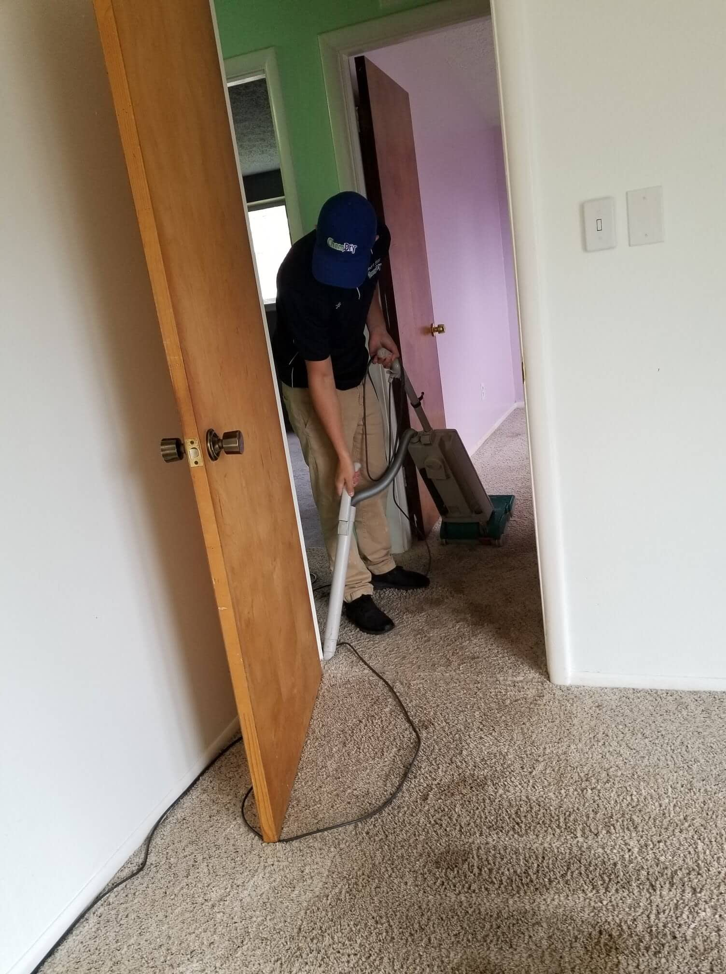 Detroit carpet cleaning technician